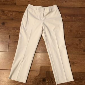 Talbots Petites Stretch 4P off-white trousers